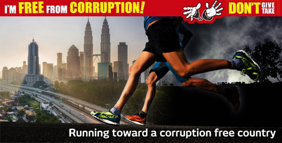I Am Free from Corruption Run Spreads to Malaysia